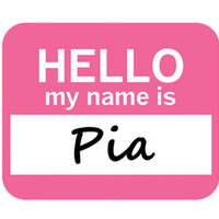 Pia Hello My Name Is Mouse Pad