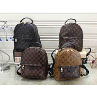 LV Louis Vuitton Clasic Fashionable Women Daypack School Bag Leather Backpack
