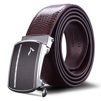 Automatic Buckle Strap Genuine Leather Belt