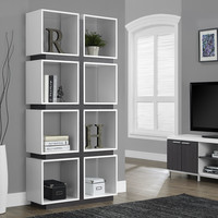 "White/Grey Hollow-Core 71""H Bookcase"