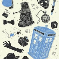 """Artifacts: Doctor Who"" - Art Print by Josh Ln"
