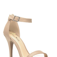 Nude Leatherette Single Sole Heels