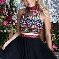 Short Two Piece A-Line Prom Dress by Sherri Hill