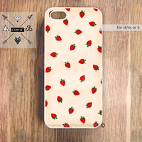 STRAWBERRY'S AND CREAM iPhone 5 Case, Strawberry iPhone 4 & 4S Case, Cases for iPhone 5, iPhone 4 Case, iPhone 5 Cover