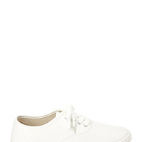 FOREVER 21 Faux Leather Plimsolls