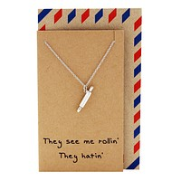 Rachel Chef Jewelry with Rolling Pin Pendant, Funny Greeting Card