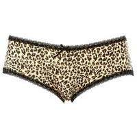 Lace & Leopard Print Cheeky Panties by Charlotte Russe