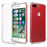 Case for iPhone 7 Plus Flexible TPU Bumper Rigid Slim Protective Cases Clear Back Cover for iPhone 7 6 S 6S 5 5S capinhas para o