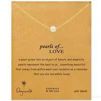 Stylish Shiny New Arrival Jewelry Gift Pearls Alloy Lock Necklace [7992533121]
