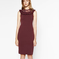 DRESS WITH FRILL DETAILS