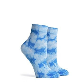 Psych Ankle Sock in Blue