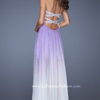 Beaded Strapless Gown by La Femme