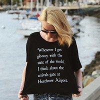 Heathrow Airport Boxy Tee | The Tree Kisser