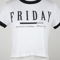 Friday Crop Tee