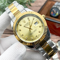 Rolex Fashion Men's and Women's Casual Business Steel Band Watche