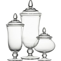 Delfina Covered Jars in Home Accents | Crate and Barrel
