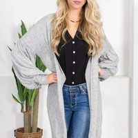 Southern Grey Soft Cardigan