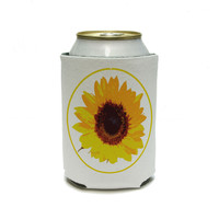 Sunflower - Birthday Wedding Shower Can Cooler Drink Insulator Beverage Insulated Holder