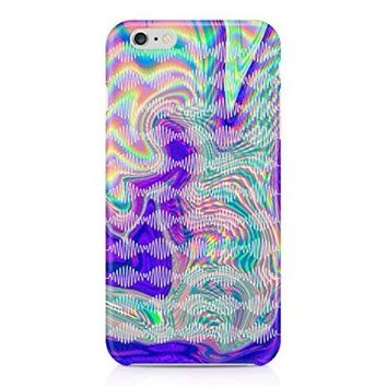 Arctic Monkeys Trippy Holographic Waves Logo Hard Plastic Snap-On Case For Iphone 6 Plus