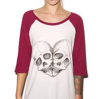 Iron Fist Eternal Love Raglan Tee Plum/White