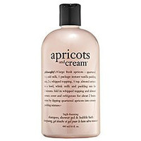philosophy Apricots and Cream Shampoo, Shower Gel and Bubble Bath 16 oz.