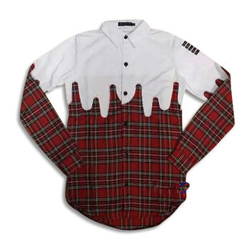 Drapped Up Fashion Extended Flannel Shirt