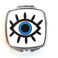 Blue Eyeball Compact Mirror