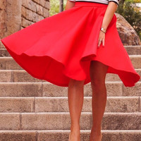 Solid Color Big OL Midi Skirt