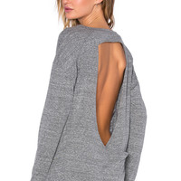 Vimmia Pacific Open Back Tee in Heather Grey