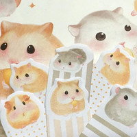 hamster sticky note cute pet hamster theme planner sticker baby hamster little hamster decor mixed media gerbil guinea deco paper gift
