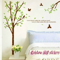 Rainbow Wall-stickers Wall Decor Removable Decal Sticker - Couple Trees (59 Inches Tall)