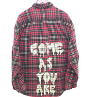 Come As You Are Shirt in Red/Black Plaid Flannel