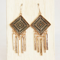 Gold Plated Tassel Earrings - Earrings
