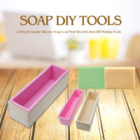 900g and 1200g Soap Loaf Mold Rectangle Wooden Box With Silicone Liner (DIY Soap Making Tools)