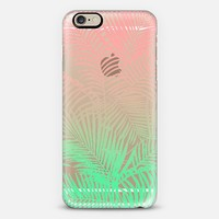 Modern pink Turquoise tropical palm trees pattern iPhone 6 case by Pink Water | Casetify