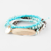 FULL TILT 5 Piece Leaf/Coin Friendship Bracelets | Bracelets