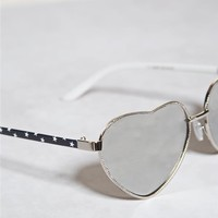 Flag Heart Aviator Sunglasses