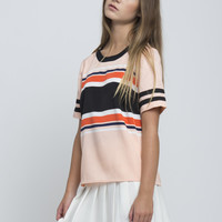 Rugby Silk Stripe T-Shirt