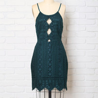 Jade Lace Dress-FINAL SALE