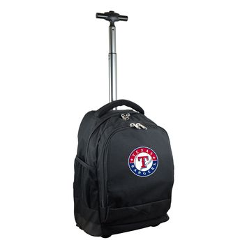 Texas Rangers Wheeled Premium Backpack