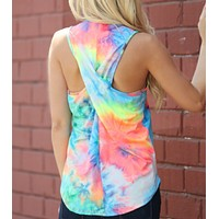 Criss Cross Back Workout Tank Tops | Camo and Tie Dye