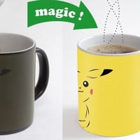 pokemon mugs pikachu mug coffee mugs Black cold hot changing color