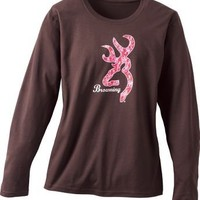 Cabela's: Browning® Women's Pink Camo Mark Long-Sleeve Tee Shirt