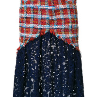 Daizy Shely lace-panelled Tweed Skirt - Farfetch