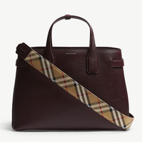 BURBERRY Banner medium grained leather tote