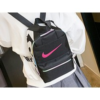 NIKE fashion hot seller women's casual monogram printed shopping backpack Black