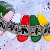 ADIDAS Slippers Women Colorful Diamond Shining Slippers B-XHYMX More Color