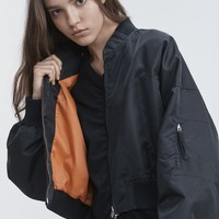 Alexander Wang NYLON TWILL JACKET JACKETS AND OUTERWEAR | Official Site