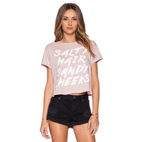 Pink Salty Hair Sandy Cheeks Short Sleeve Tee