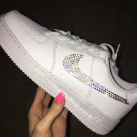 Crystal Nike Air Force 1 in White (Low)